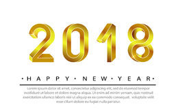 2018 anos novos felizes Foto de Stock Royalty Free