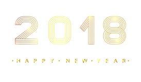 2018 anos novos felizes Imagem de Stock Royalty Free