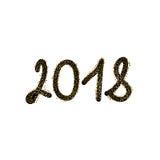 2018 anos novos felizes ilustração stock