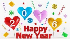 2016 anos novos felizes colorido Imagem de Stock