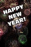 Anos novos felizes de Eve Holiday Fireworks Display ilustração stock