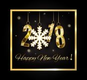 2018 anos novos felizes Feliz Natal felicite ilustração royalty free