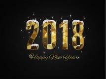 2018 anos novos felizes Feliz Natal felicite ilustração stock