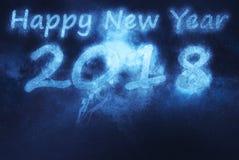 2018 anos novos felizes Fundo abstrato do céu noturno Fotos de Stock