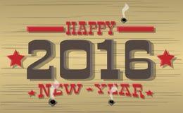 2016 anos novos felizes ocidental Fotografia de Stock
