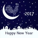 2017 anos novos, fundo do Natal Imagens de Stock Royalty Free