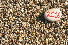 2016 anos novos na praia Imagens de Stock