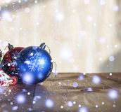 2018 anos novos, Natal Decorações do Natal Fotografia de Stock Royalty Free