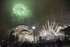 Anos novos ortodoxos da celebração da véspera Fotografia de Stock