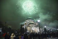 Anos novos ortodoxos da celebração da véspera Fotografia de Stock Royalty Free