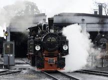 150 anos velhos da locomotiva velha do trem do vapor Imagem de Stock Royalty Free