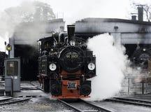 150 anos velhos da locomotiva velha do trem do vapor Fotografia de Stock