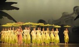 Anos- verdes em segundo do ato de eventos do drama-Shawan da dança do passado Imagens de Stock