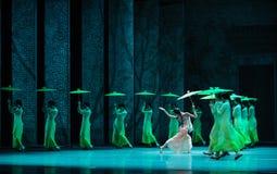 Anos- verdes em segundo do ato de eventos do drama-Shawan da dança do passado Imagem de Stock