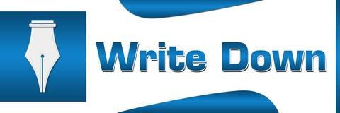 Anote horizontal cuadrado azul stock de ilustración