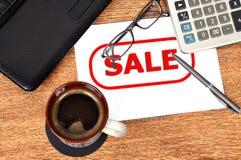 Anote a venda imagens de stock royalty free