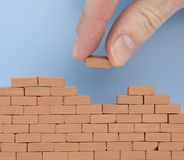 Another brick on the wall Stock Photos