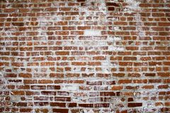 Another Brick in the Wall. Background image of bricks and white wash Royalty Free Stock Images
