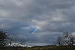 Cloudy winter sky over Holland. Another cloudy winter sky over Holland royalty free stock photos