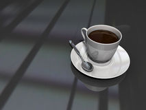Another coffee cup. Coffee cup with black background Royalty Free Stock Photos