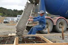 Another concrete pour Royalty Free Stock Images