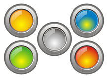 Another cool vector web buttons. White isolated another cool vector web buttons Royalty Free Stock Photos