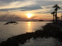 Another day in paradise. Sunset in Paphos Royalty Free Stock Photos