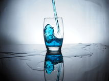 Another drink. Water down a glass Stock Photography