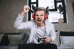 Gamers playing party Royalty Free Stock Images