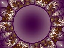 Another fractal presentation. Colorful and ornate fractal frame vector illustration