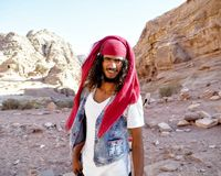 Another friendly tour guide of Petra in Jordan royalty free stock image
