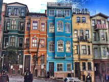 Another great view from Balat. As a native of Istanbul, I should timidly confess that I haven't visited this beautiful district full of colorful, cute houses Stock Photo