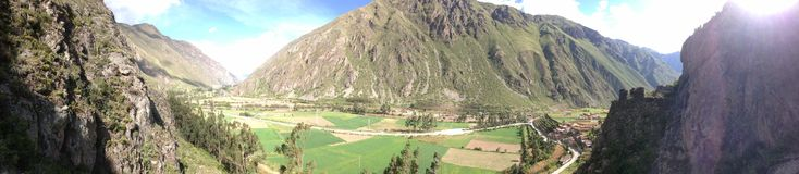 Peru panorama sacred valley royalty free stock photography