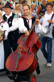 Another musician at 'Kirchtag' procession Stock Photos