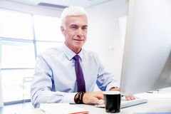 Another office day in front of computer Royalty Free Stock Image