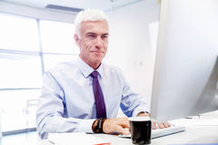 Free Another Office Day In Front Of Computer Royalty Free Stock Photos - 63502938