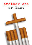 Another one. Illustration of cigarettes composed to a grave Stock Images