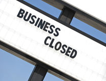 Another Out of Business Sign 2. An angled shot of a Going Out of Business sign Stock Image