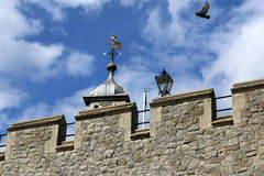 Another part of The Tower of London. This is another view of the Tower of London with a bird Royalty Free Stock Photography