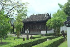 Chinese house at King Rama IX Public Park NO.2 royalty free stock photography