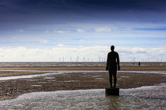 Another Place at Crosby Beach. Royalty Free Stock Images