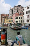 Another relaxing day in Venice. Serenity along the canal in Venice Royalty Free Stock Images