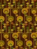 Another seamless seventies pattern Royalty Free Stock Photo