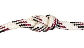 another side of figure-eight knot knot on rope stock image