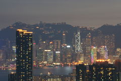 Another Side of HK night view 1 Stock Image