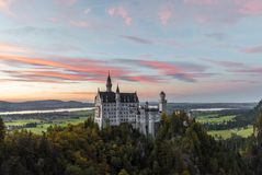 Another sunset view on the famous castle Stock Photography