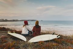 Another surf day Stock Photography