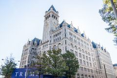 Another Trump Development. Conversion of the city's Romanesque Revival style Old Post Office and clock tower building into a luxury hotel to open in 2016 stock photo