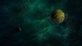 Another universe. A fictional universe beyond our borders stock illustration