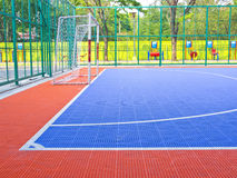 Another view field for futsal Royalty Free Stock Photo